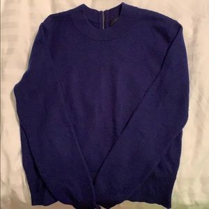 J Crew Royal Blue Sweater with Zipper Detail